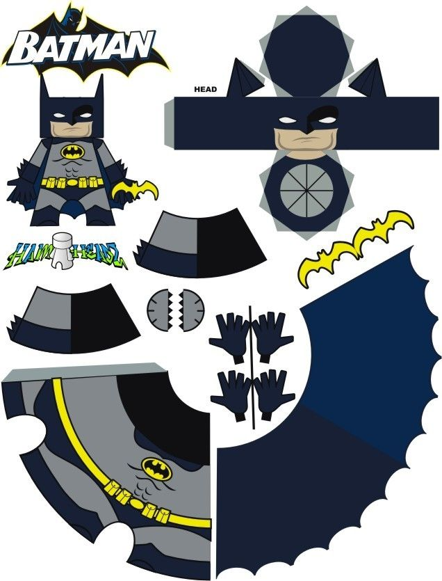 photograph relating to Free Printable Paper Crafts named batman totally free printable paper craft Paper Robotic Paper