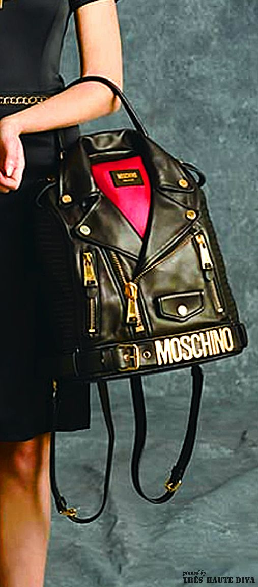 ~Moschino Pre-Fall 2014 backpack  8ff7bce11494e