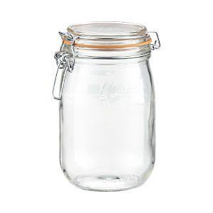 Le Parfait 1 Liter Jar Glass Canning Jars Le Parfait Food Storage Containers