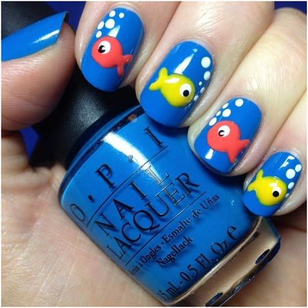 I love ocean themed stuff - Pin By Danielle Dean On Clouer Pinterest 50th, Animal And Fish Nails