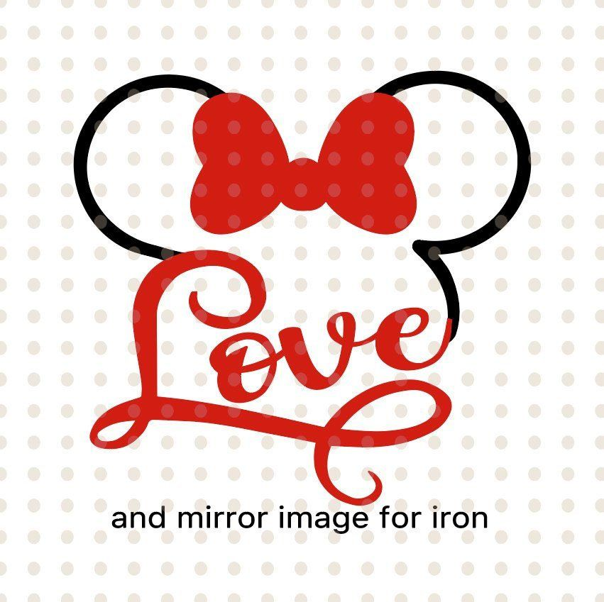 Download Disney svg, love disney svg, love minnie svg, love minnie ...