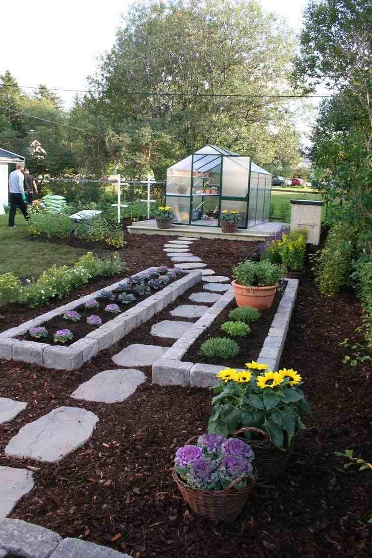 Photo of Allée jardin en gravier, ardoise et bois –créer une allée piétonne