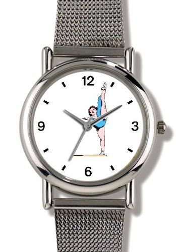 Balance Beam No.3 or Floor Exercise Women's Gymnastics Theme - WATCHBUDDY® ELITE Chrome-Plated Metal Alloy Watch with Metal Mesh Strap-Size-Small ( Children's Size - Boy's Size & Girl's Size ) WatchBuddy. $79.95