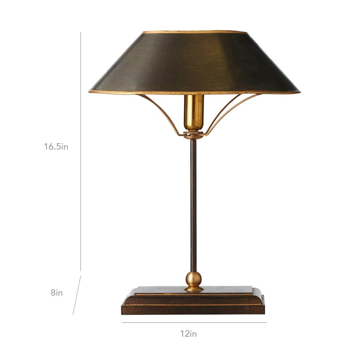 Grisewood Lamp And Shade Brown Oka Lamp Metal Table Lamps Small Metal Table