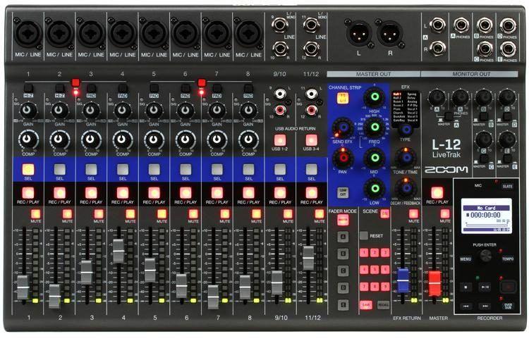Zoom LiveTrak L12 12channel Digital Mixer / Recorder in