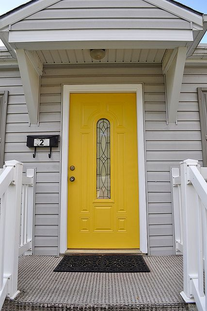 Paint Color Is Gold Buttercup By Olympic Found At Lowes Home Wall Colour Exterior House Colors House Colors