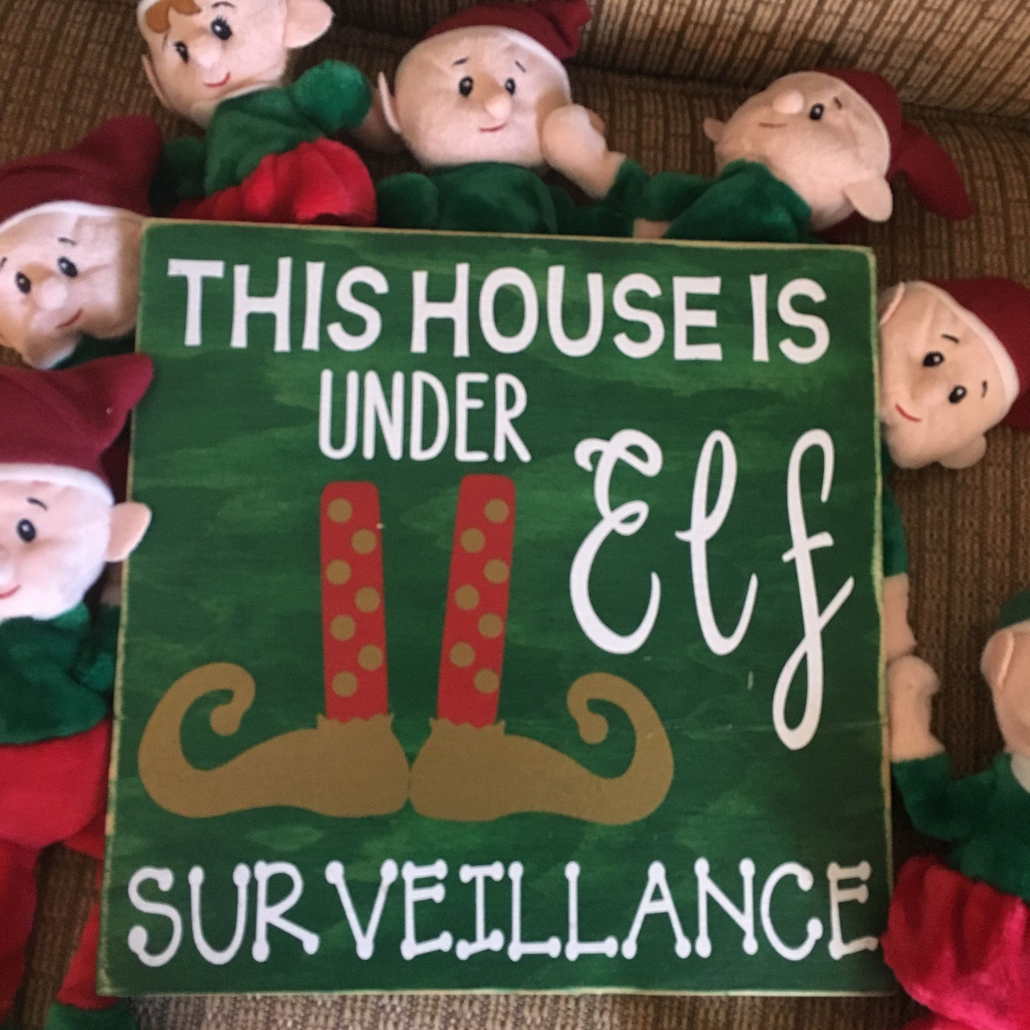 merry merry christmas fun is in the house these are hand painted lightly sanded and made from new wood right here in the heartland of america - Merry Christmas Elf