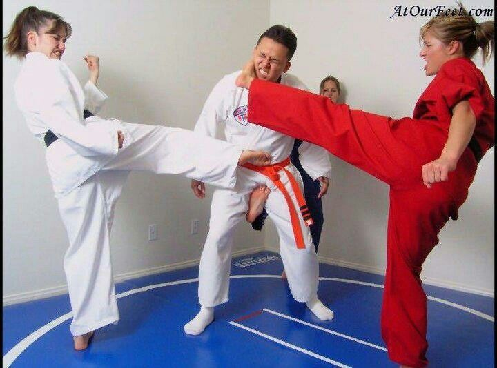 Karate ballbusting