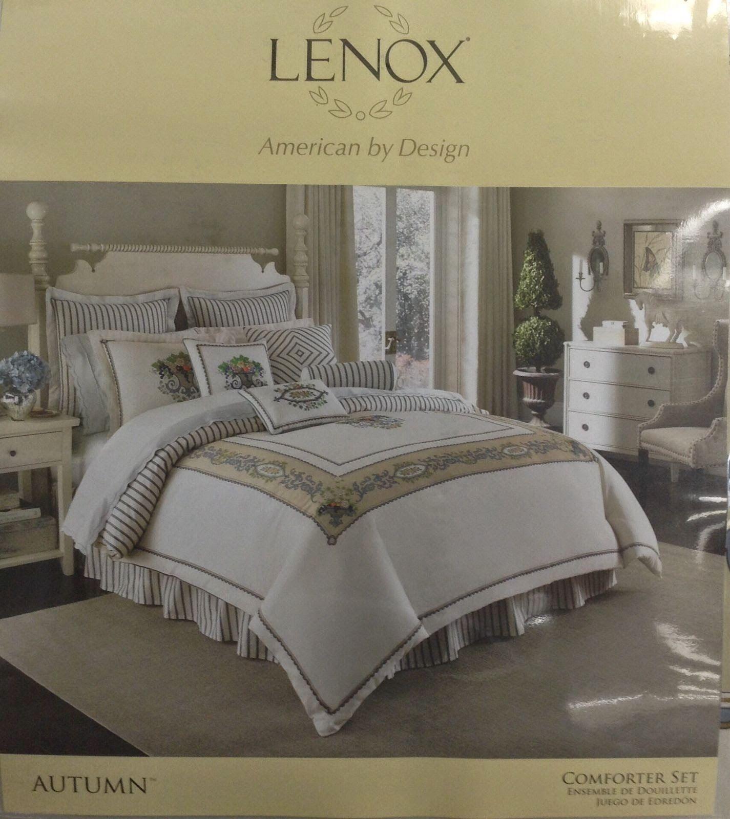 Lenox Autumn 4 Piece Queen forter Set Bedroom Chic