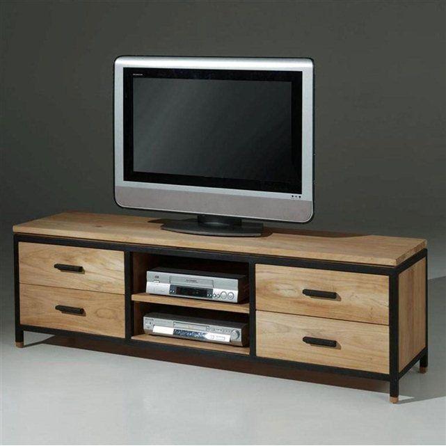 Banc Tv Design Lucille Meuble Tv Bois Mobilier De Salon Meuble Tv
