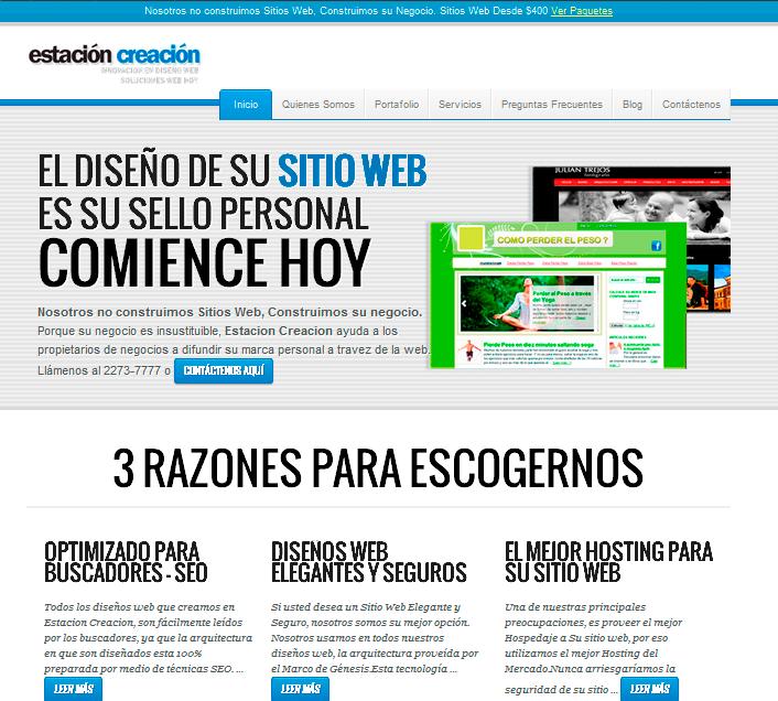 Nuevo Diseño Web de nuestro sitio Estación Creación http://estacioncreacion.com/