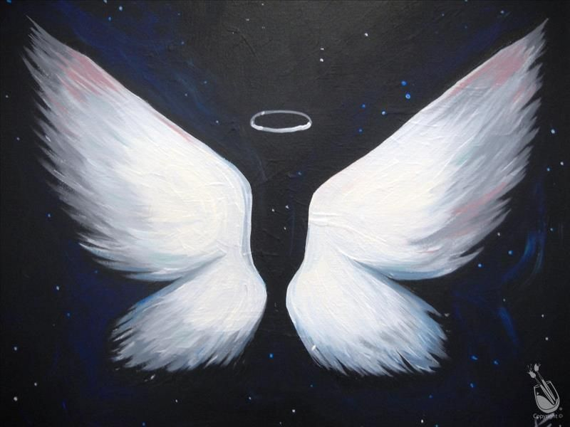 Painting With A Twist Angel Wings Art Angel Painting Angel Wings Painting