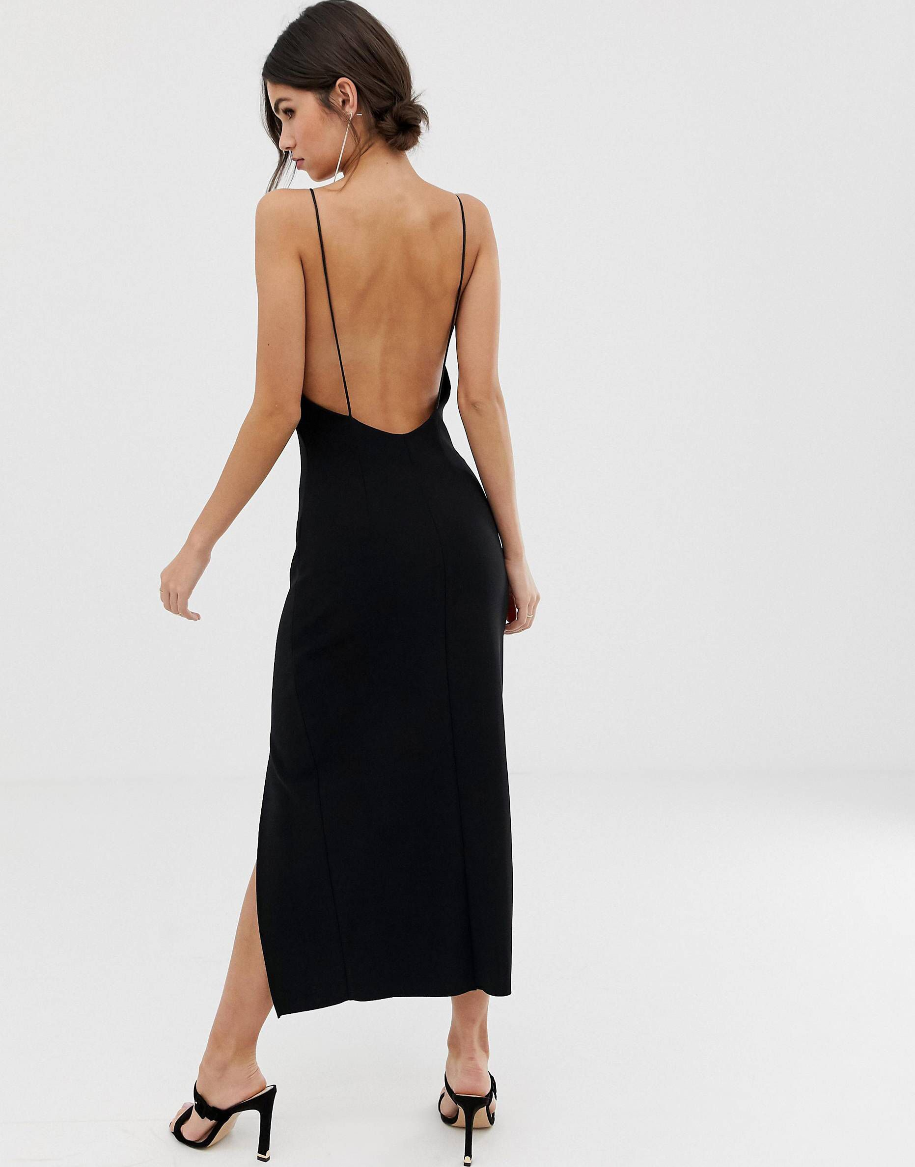 Pin By Bedazzle On Latest Shopping Item Black Dresses Classy Low Back Dresses Elegant Dresses For Women [ 2377 x 1863 Pixel ]