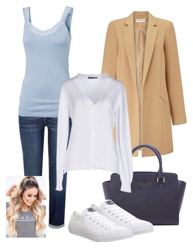 """Well, why not?! :D"" by bexs205 ❤ liked on Polyvore featuring River Island, Fat Face, Miss Selfridge, MICHAEL Michael Kors, Aida Barni and Converse"