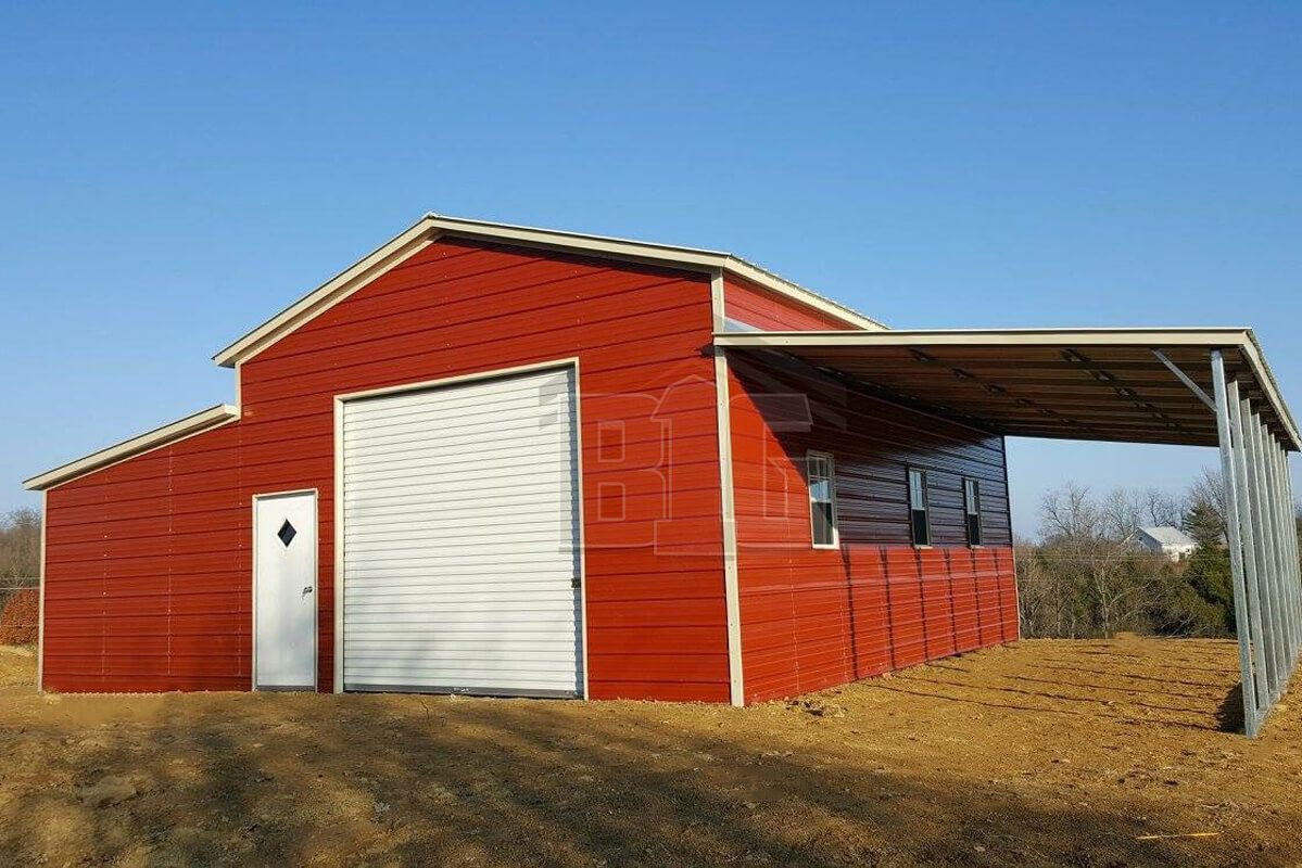 Shown Here Is A 36x50x13 Pole Barn We Built In Eatonville The Garage Doors Are Super Functional At 12x12 And 1 In 2020 Building Design Garage Builders Pole Buildings