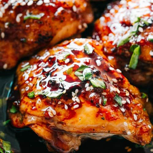 Instant Pot Sticky Chicken Thighs