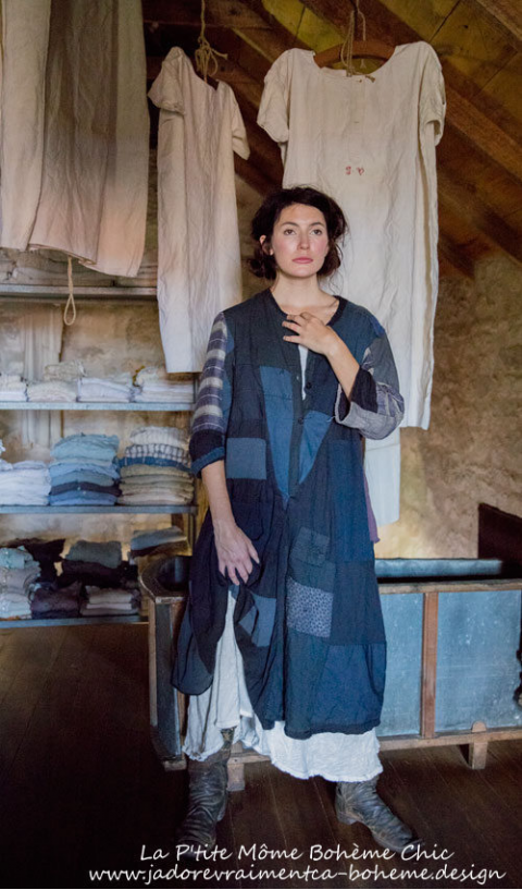 Calicos D Orsay Smock In Faded Cotton In 2019 Altered