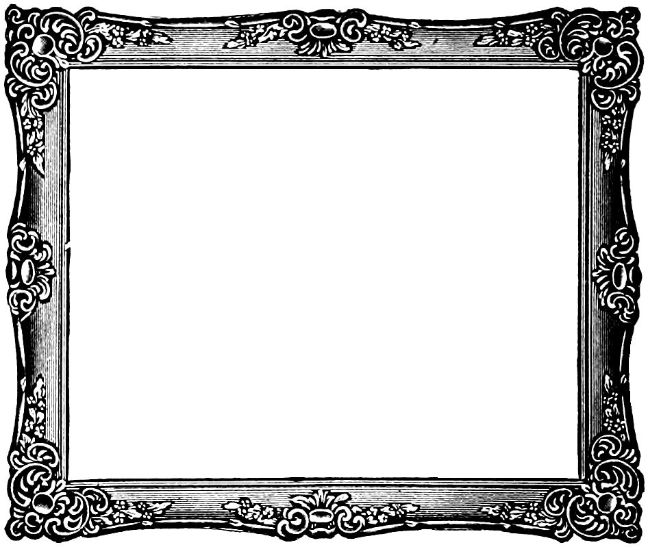vgosn_vintage_frame_image_rectangle | MATERIAL ~flame | Pinterest ...