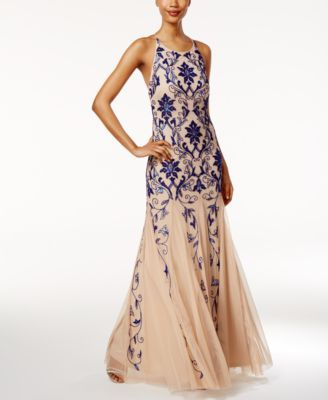 Adrianna Papell Sequined Mermaid Gown Macys Cats Quince