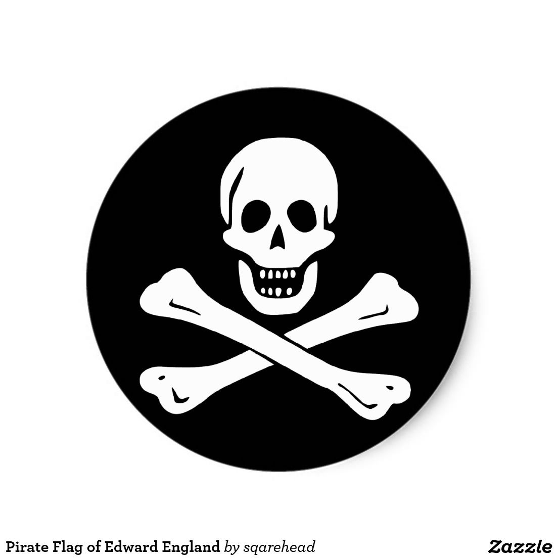 pirate flag of edward england classic round sticker round stickers rh pinterest com MLP Ponyville Flag Jack Sparrow Pirate Flag