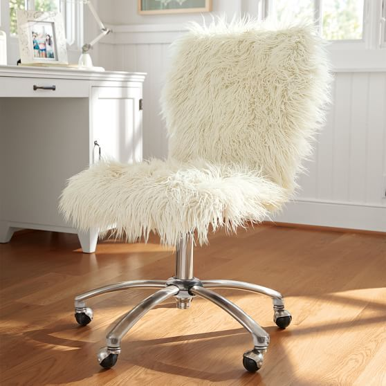 fuzzy chair covers swivel bedroom airgo furlicious arm in 2019 dorms pinterest room armless pbteen