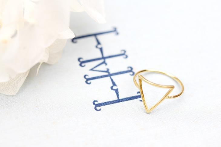Ring リング Phoebe フィービィー Art Triangle Ring 現代アート
