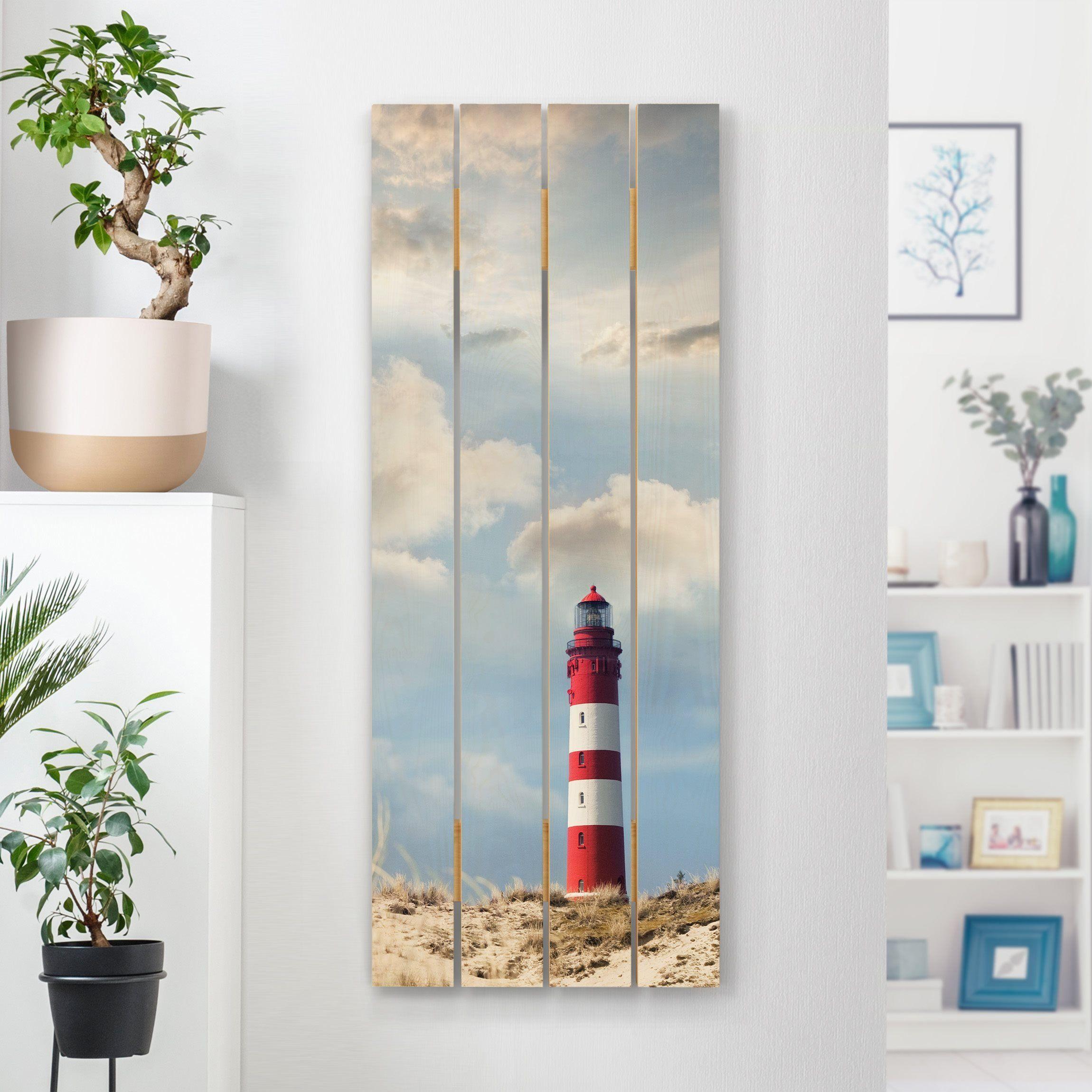 Holzbild Leuchtturm In Den Dunen Hochformat 5 2 In 2020 Holzbilder Wandgestaltung 3d Wandtattoo