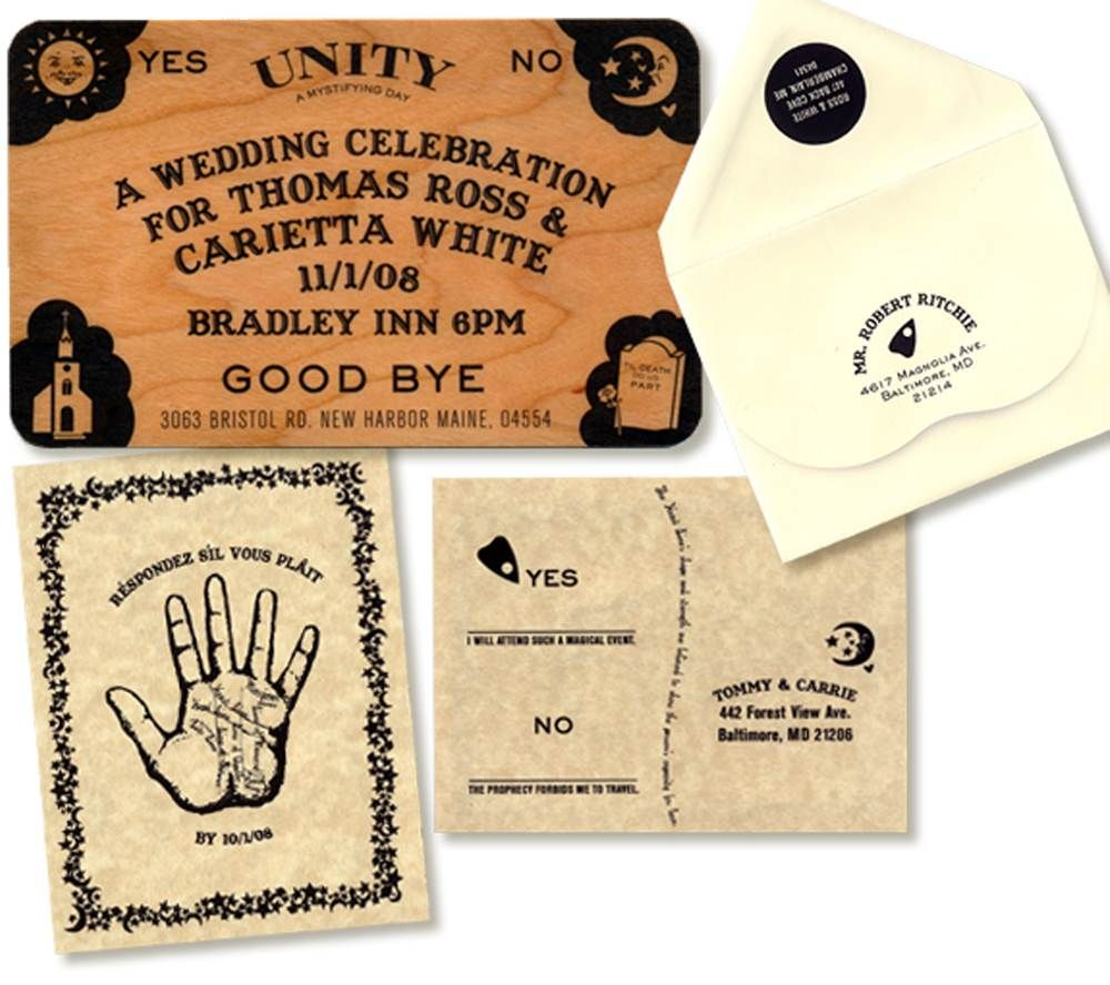 The 11 coolest wedding invitations- slideshow - Ouija board ...