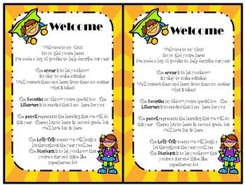 fd0f866218283a81f13b1d228584d882 Teachers Welcome Letter Template Pinapple Theme on