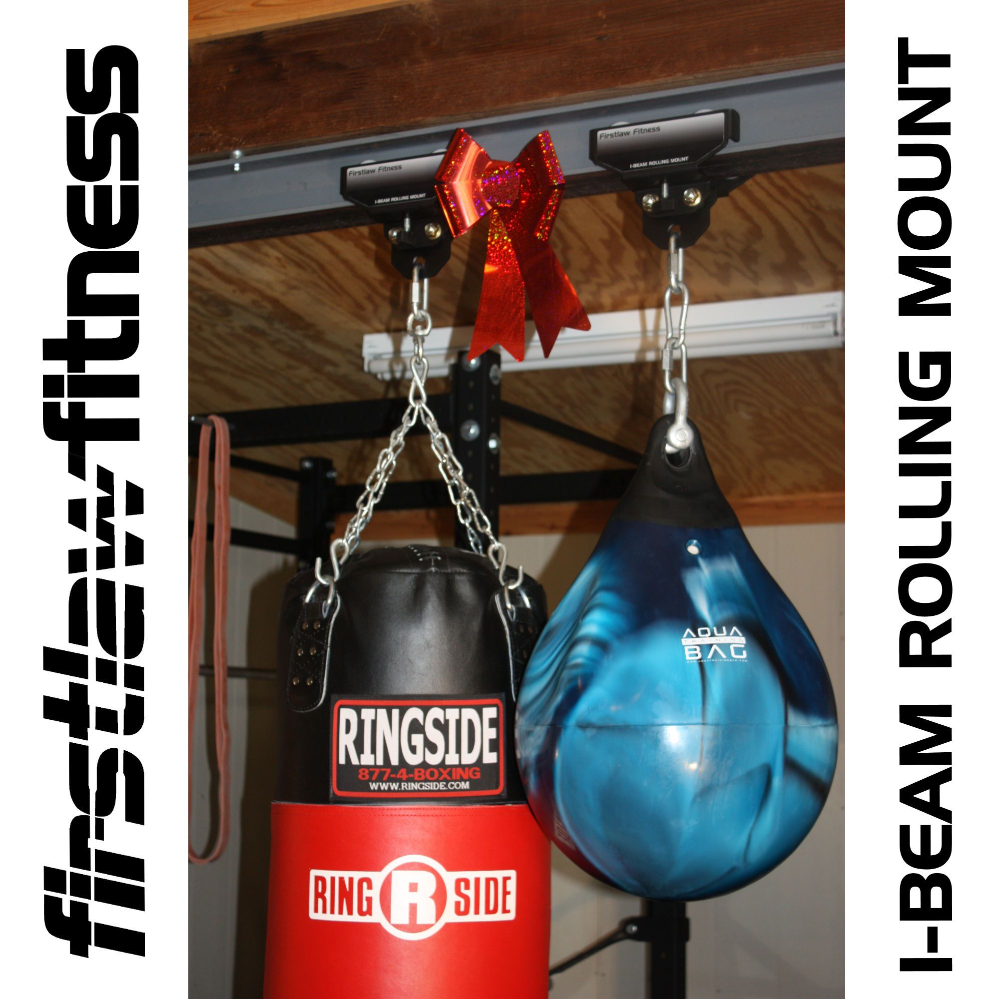 Here's the best way to hang a heavy bag from a steel I-beam. The ...
