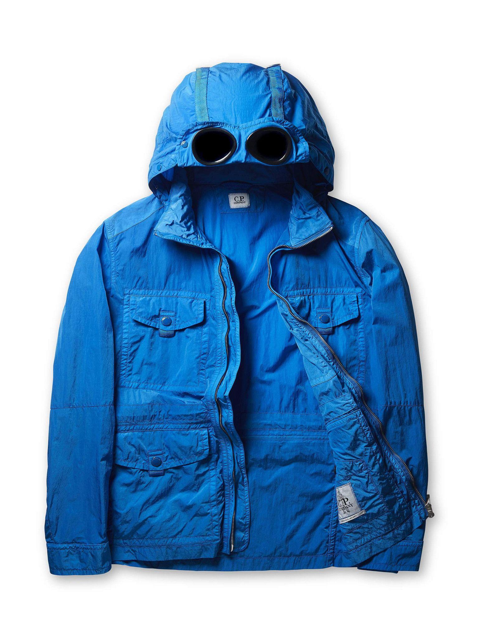 b1683edf C.P. Company Chrome Goggle Parachute Hood Panelled Field Jacket in Blue