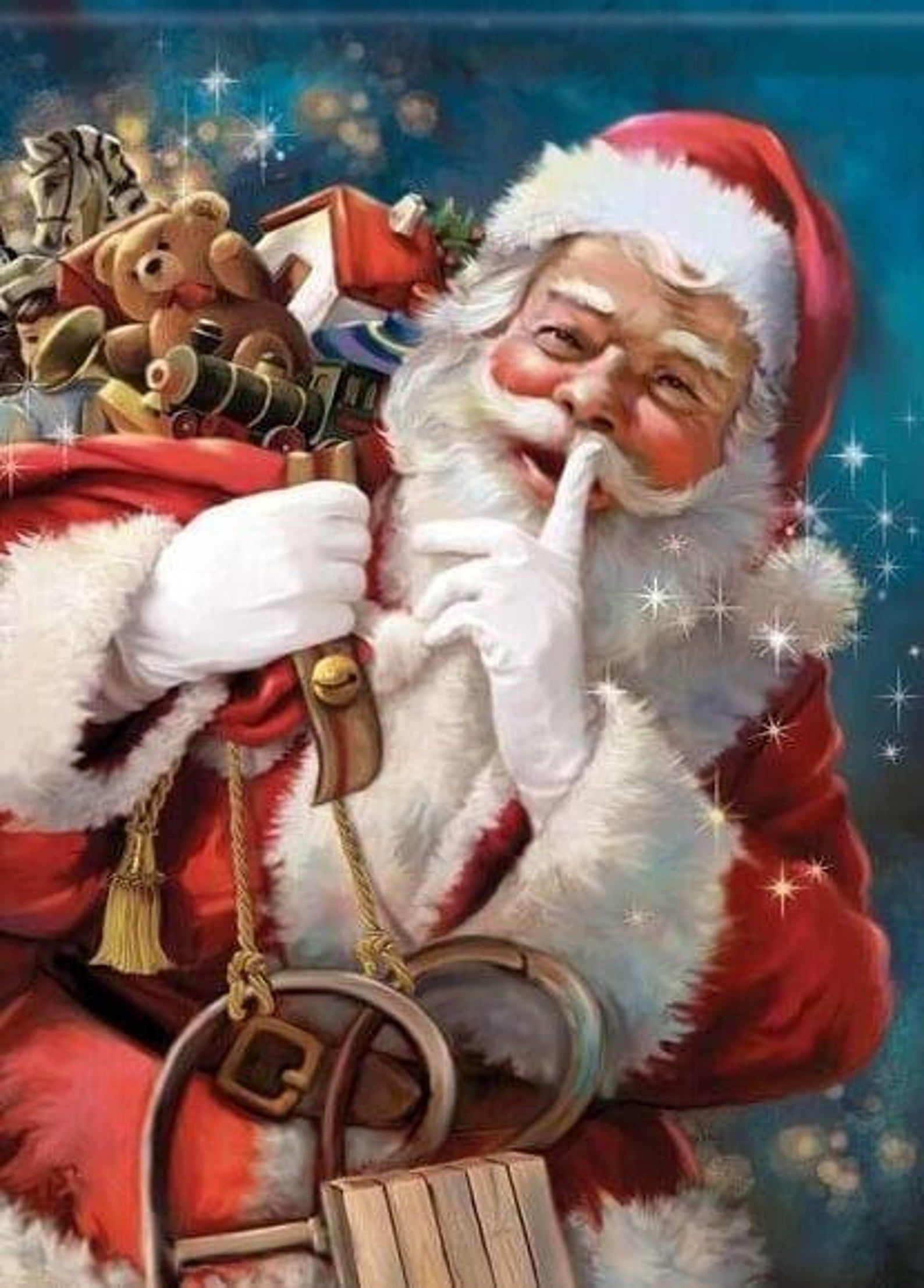 Santa Claus 5d Diy Diamond Painting Kit Full Drill Stick To Etsy In 2021 Christmas Scenes Santa Claus Pictures Christmas Flag