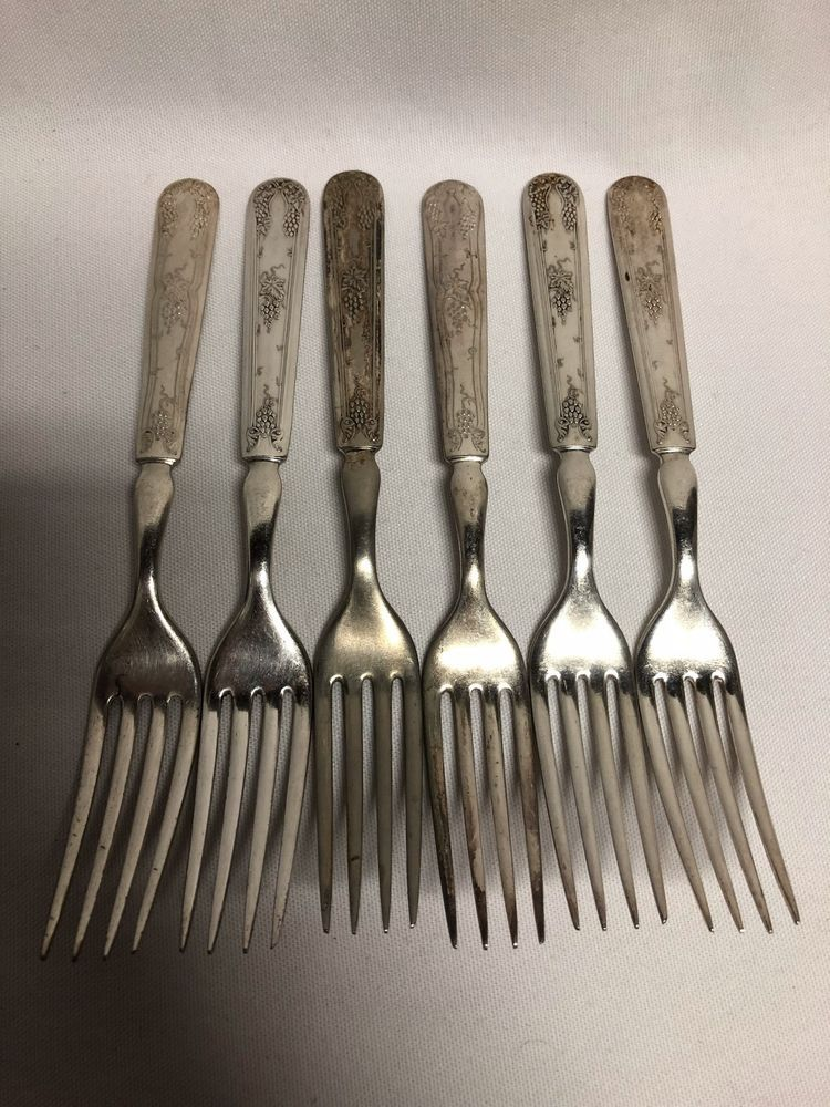 """1847 Rogers Bros Old Colony Dinner Fork s 7 1//2"""""""
