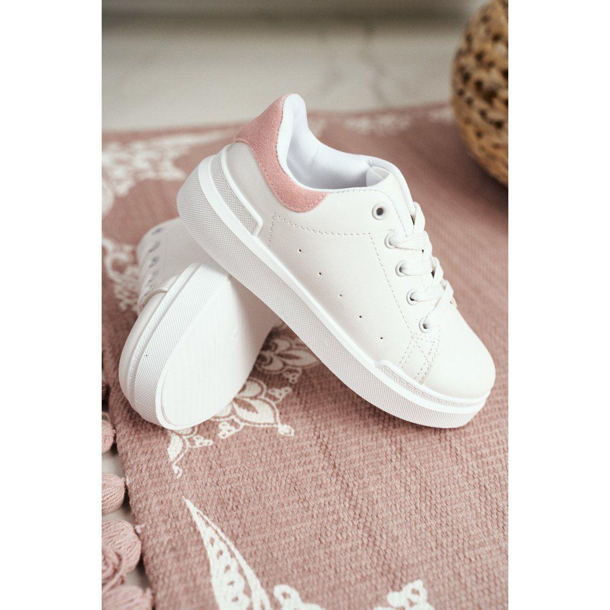 Frrock Obuwie Sportowe Dzieciece Mlodziezowe Na Rzep Bialo Rozowe Bilbo Biale Adidas Stan Smith Adidas Sneakers Sneakers
