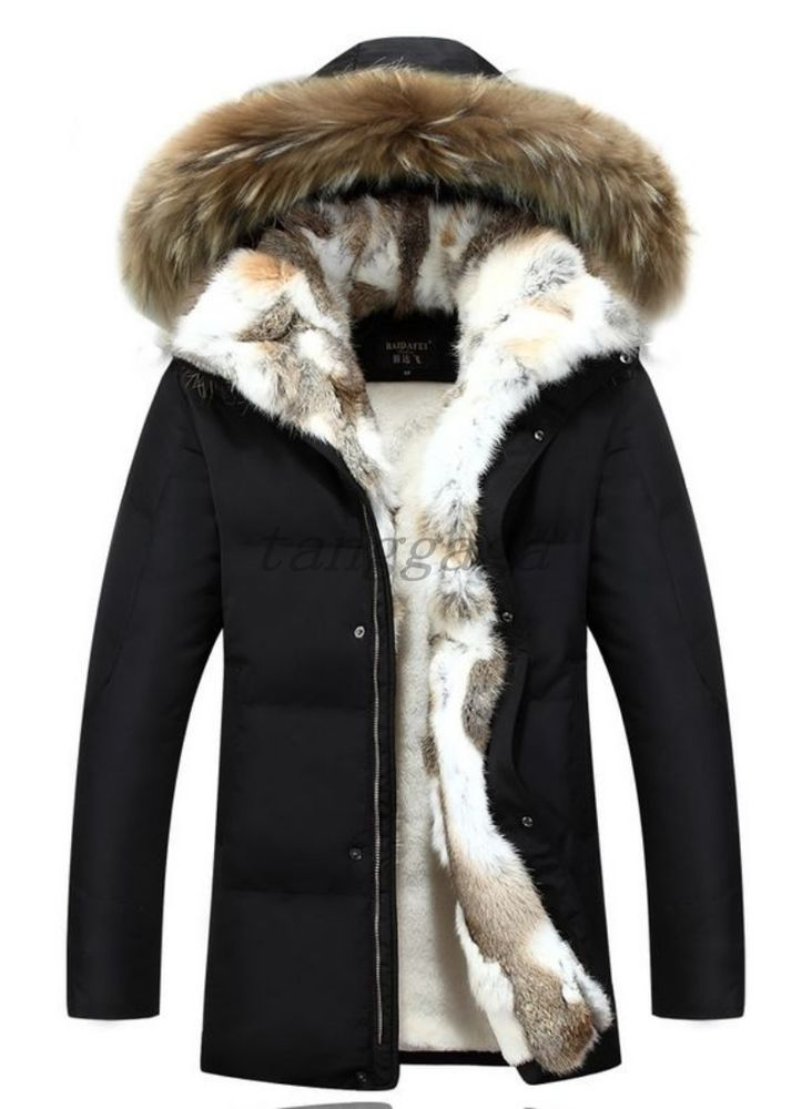 11a10ad87 Army Winter Womens Mens Warm Fur Lined Hooded Thicken Parka Duck ...