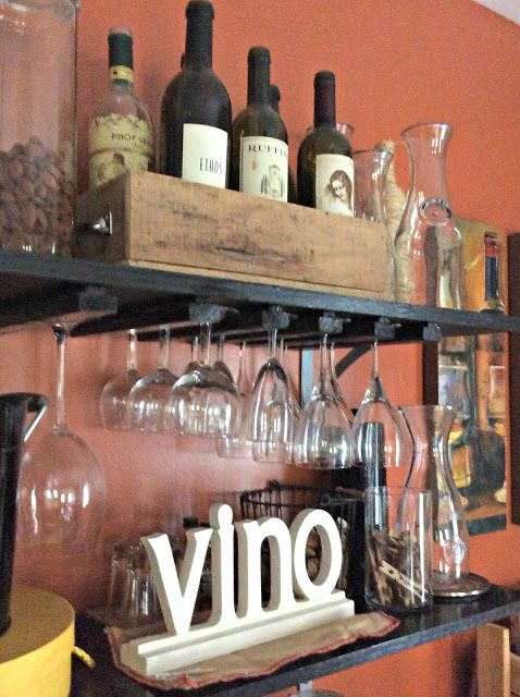 Frugal Ain't Cheap: Decor Updates on a Dime (or less) DIY - Wine Rack
