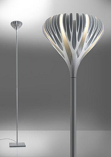 Contemporary aluminium floor lamp archiexpo light for Ikea piantane