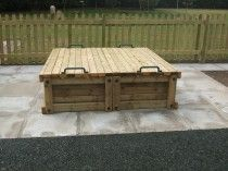 Commercial Sandpit with Sliding Lids - 1