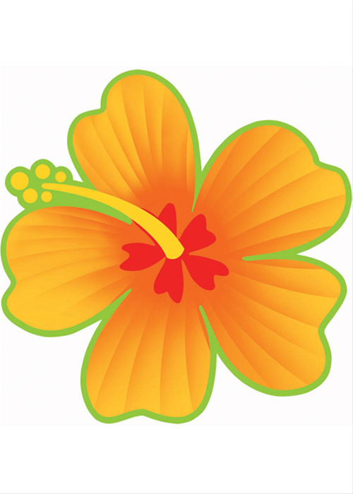 Hibiscus Flower Cutout Hawaiian Party Decorations Hibiscus Moana Party