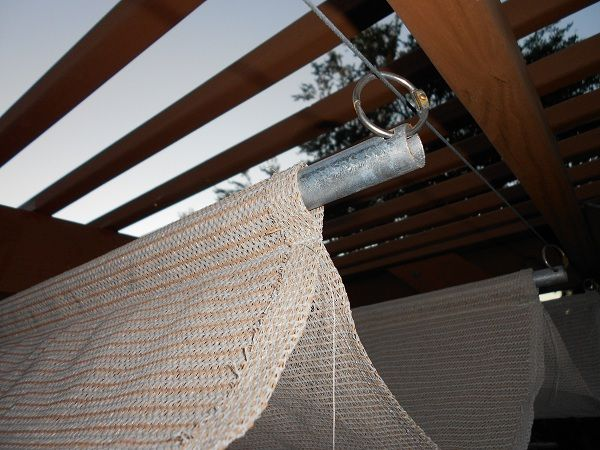 Marvelous DIY Retractable Awning For Pergola (shade Cloth, Conduit And Cable)