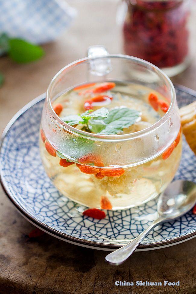 Chrysanthemum Tea With Goji Berry Recipe Chrysanthemum Tea