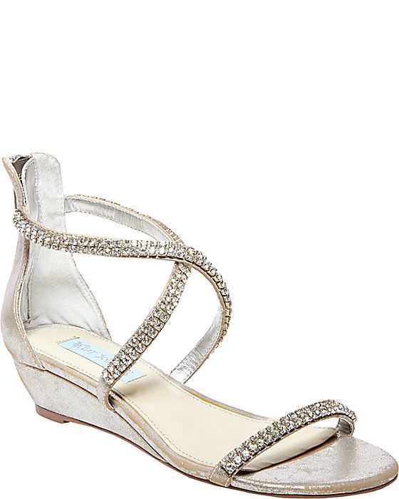 These Are My Bridal Shoes Sb Tiara Champagne Women S Evening Flat Ankle Strap