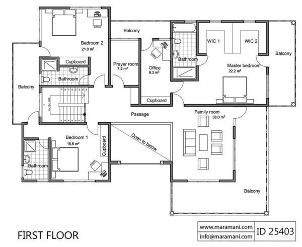 4 Bed Contemporary Villa Plan Id 24503 Villa Plans Maramani Com House Plans For Sale House Plans Villa Plan