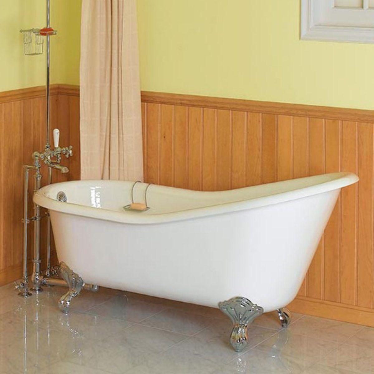Bathroominspiringsilverlegsclawfoottubwithsingledrapesin Gorgeous Victorian Bathroom Design Ideas Design Ideas