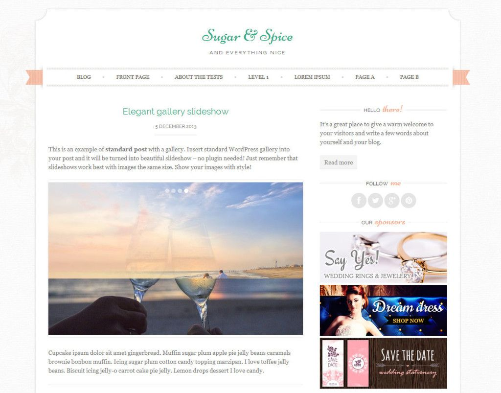 51 Best Free WordPress Themes - Sugar and Spice is a chic ...