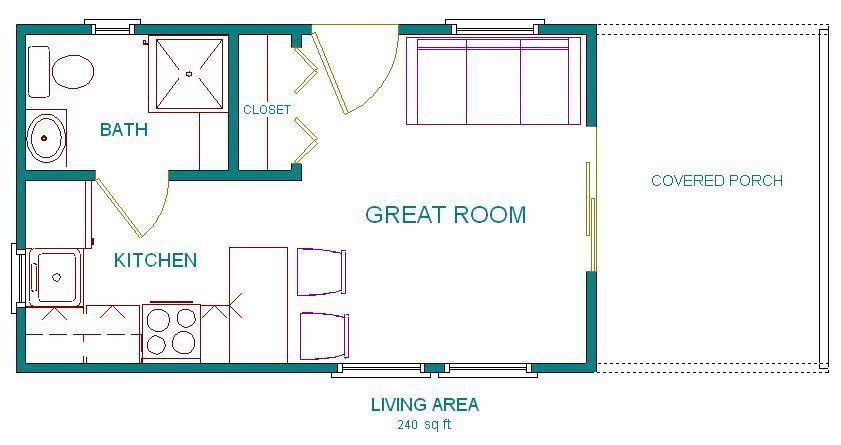 12×20 Cabin Floor Plans Pics