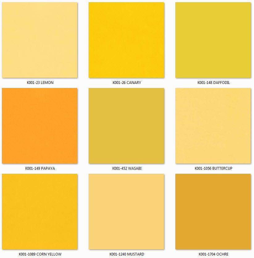 "ROBERT KAUFMAN /""KONA COTTON SOLID/"" Yellow tones by the 1//2 yard"