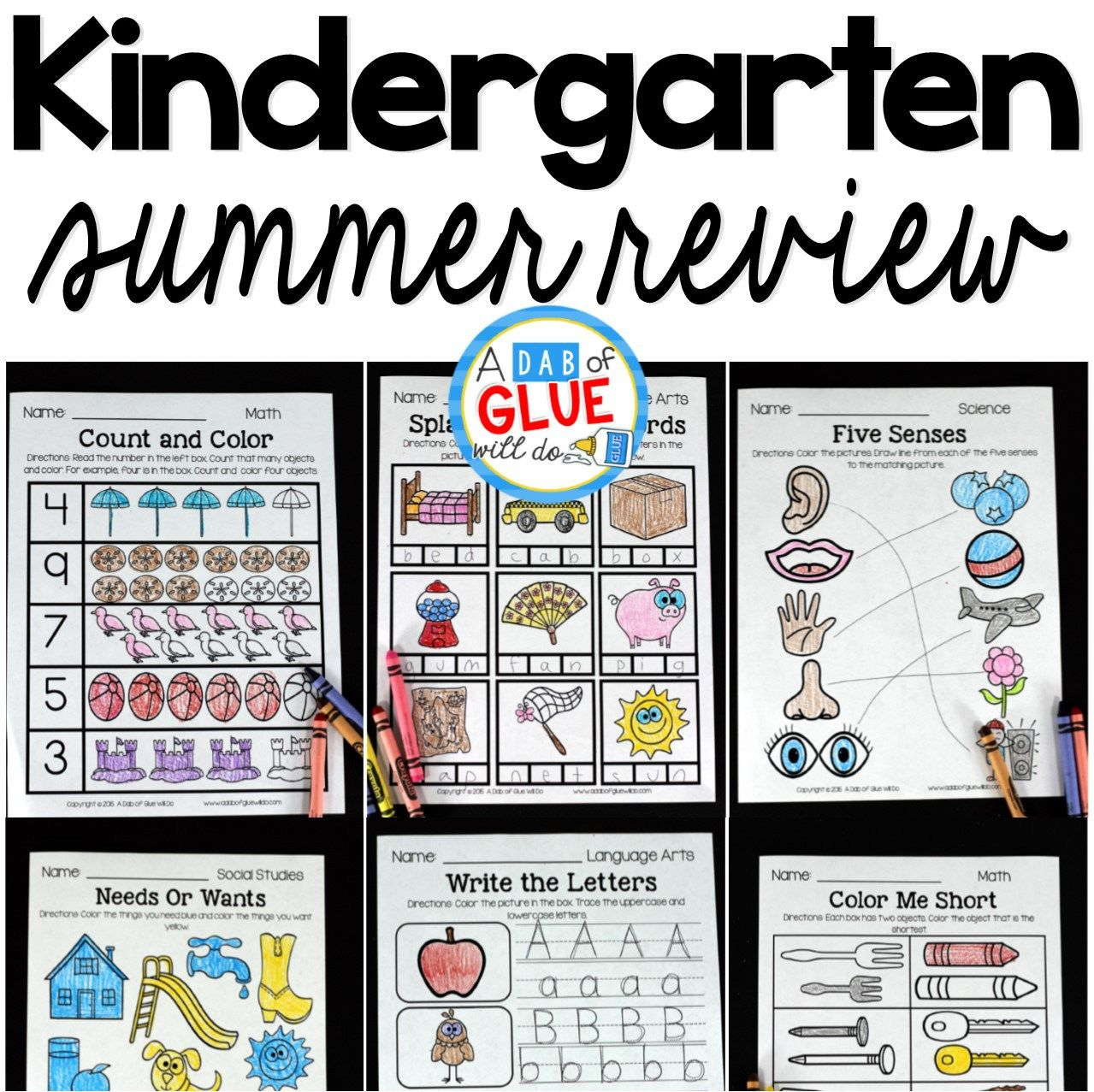 The perfect NO PREP Kindergarten Summer Review to help your kindergarten students with hands-on learning over summer break! Give your students going into First Grade fun review printables to help prevent the summer slide and set them up for First Grade success. This review is packed full of engaging homework review activities that will bring a smile to their sweet faces as they work on math, language arts, social studies, and science! Parents will enjoy the student's focus on summer homework…