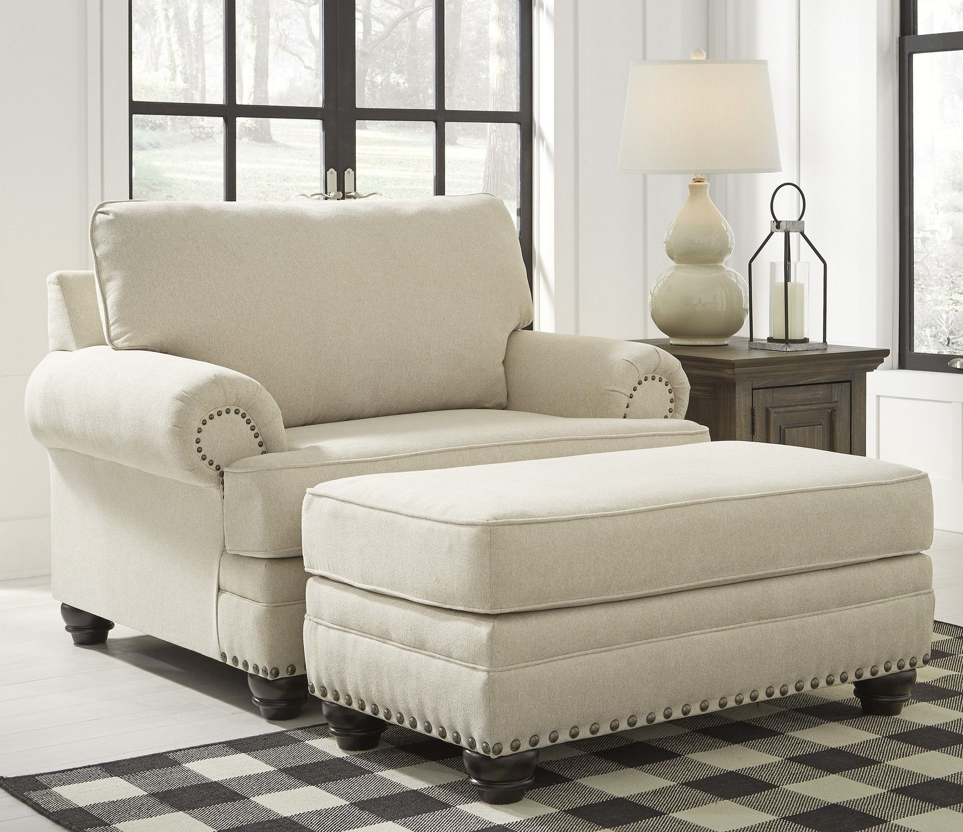 Harrietson Shell 2 Piece Chair And A Half Ottoman Set In 2020 Comfy Chairs Couches Living Comfortable Chair