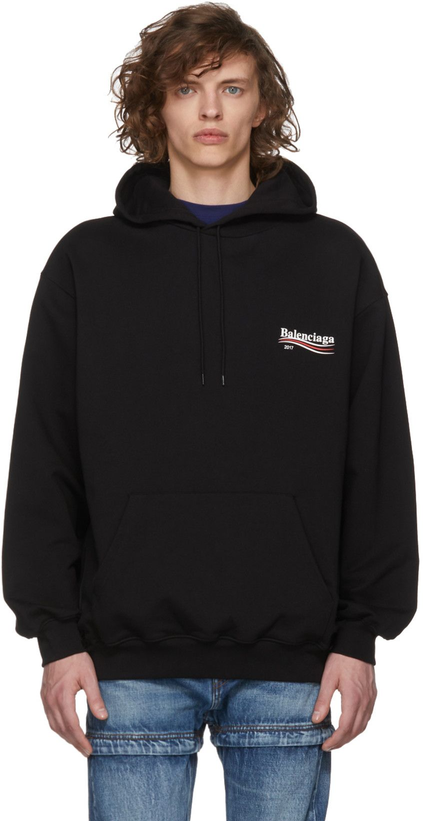 636159560 Balenciaga Black Campaign Logo Hoodie in 2019 | Clothes: 2018 ...